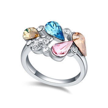 Jewelry Gift New Arrival Stylish Shiny Crystal Ring [4989649412]