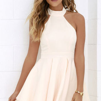 Dress Rehearsal Peach Skater Dress from Lulu*s | For those one
