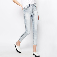 High Waist Pencil Cut Denim Pants