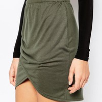 Daisy Street | Daisy Street Wrap Front Mini Skirt at ASOS