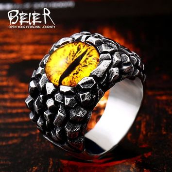 BEIER Stainless steel Vintage Retrol jewelry Evil Eye Charm ring mens rock ring drop shipping wholesal christmas Gift BR8-527