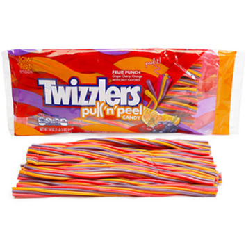 Twizzlers Fruit Punch Pull-n-Peel Licorice Twists: 19-Ounce Bag