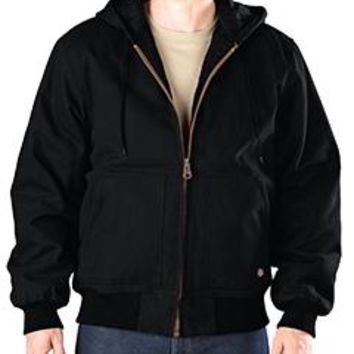 Dickies - Men's Tall Sanded Duck Hooded Jacket