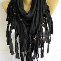 Trend Scarf- Black Scarf- Shawls-Scarves-gift Ideas For Her Women's Scarves-christmas gift- for her -Fashion accessories
