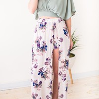 Flourish Maxi Skirt with Side Slit and Shorts
