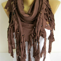 Trend Scarf-Brown Scarf-  Shawls-Scarves-gift Ideas For Her Women's Scarves-christmas gift- for her -Fashion accessories