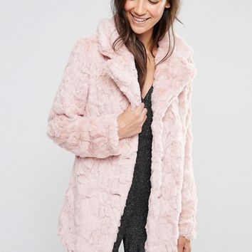 Glamorous Faux Fur Coat at asos.com