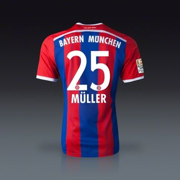super popular d6701 711ac adidas Thomas Muller Bayern Munich Home Jersey 14/15