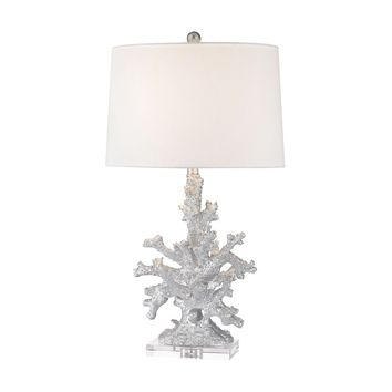 Trunk Bay 1 Light Table Lamp In Silver Silver