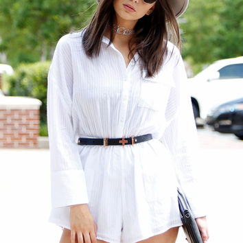 THE FIFTH LABEL | Sun Valley Playsuit - White