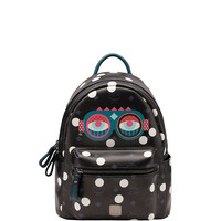 MCM Polka Dot Small Packpack - Printed Backpack - ShopBAZAAR