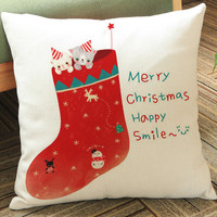 New Year Comfortable Bedroom Cotton Linen Mat Christmas Gifts Strong Character Cushion Pillow Cover Home Decor [9647077903]