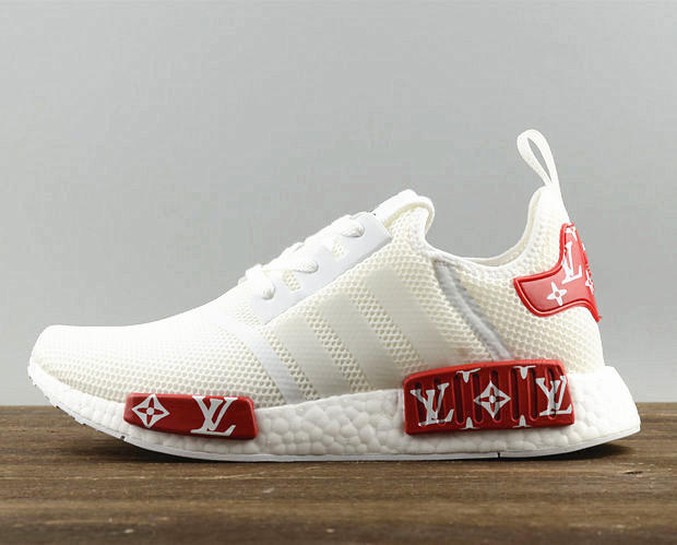 Adidas NMD X LV Fashion Women Men Casual Running Sport Shoes White red 84034a93d7