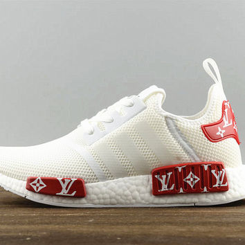 Adidas NMD X LV Fashion Women/Men Casual Running Sport Shoes White red
