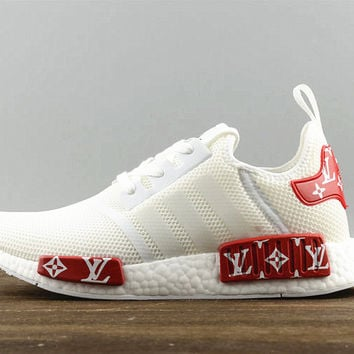 4ab972f000e91c Adidas NMD X LV Fashion Women Men Casual Running Sport Shoes White red