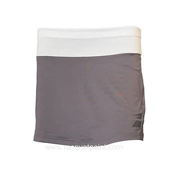 "Babolat Women's Perf 14"" Long Tennis Skirt  - Castlerock Grey"