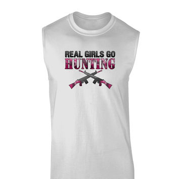 Real Girls Go Hunting Muscle Shirt
