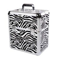 New Large Zebra Beauty Make Up Cosmetic Box Vanity Case Special For Nail Polish