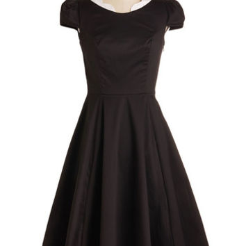 Rockabilly Cap Sleeves Fit & Flare Demure Forever in My Heart Dress