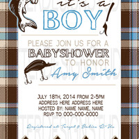 Fishing Baby Shower Invitation - Printable Digital File