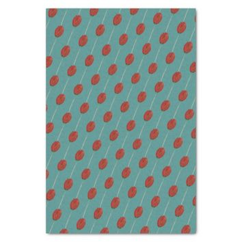 Burnt Orange Tulip & Teal Tissue Gift Paper