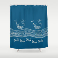 Swimtangle Shower Curtain by Alice Gosling | Society6