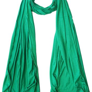 Cotton Jersey Hijab Scarf - Kelly Green