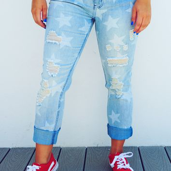 Oh My Stars Jeans: Light Denim