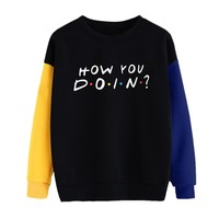 hoodies women sweatshirt splice color unique style cool autumn clothes oversized hoodie sudadera mujer