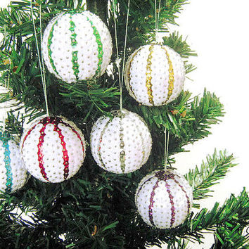 Sequined Balls for Christmas trees, Palline Natale con paillettes