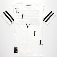 Civil Affiliate Mens T-Shirt White  In Sizes