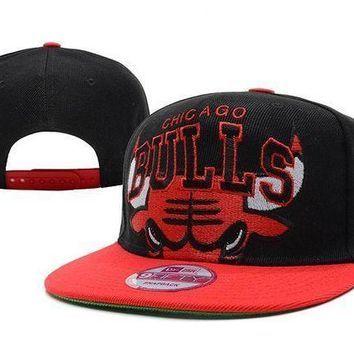 Chicago Bulls Nba 9fifty Hat Black Red