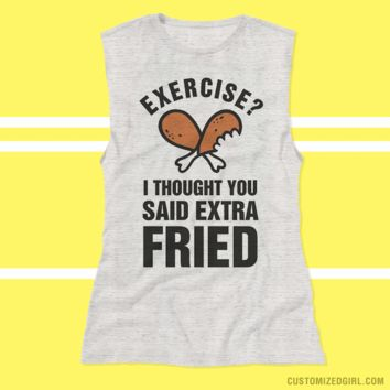 Funny Fitness Fried Workout Tank