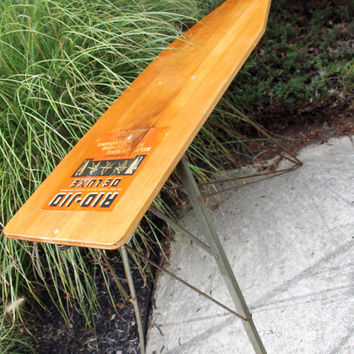 Vintage Wood and Metal Ironing Board by Rid Jid