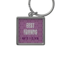 Best Friends Custom Name Pink Pattern - Customizable Text