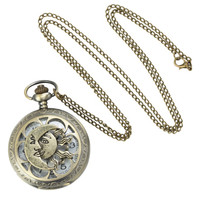 LOVEsick Sun Moon Pocket Watch Necklace