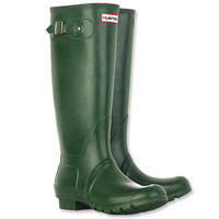Green Hunter Rain Boots With Buckle
