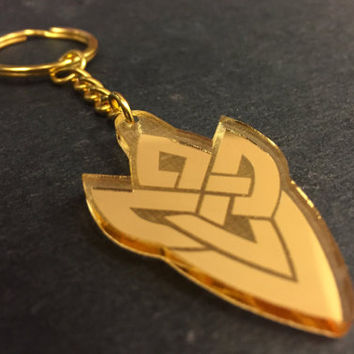 The Order of Heroes Badge Keychain, Fire Emblem Heroes (mirrored acrylic, laser-cut)