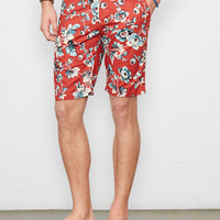 FLORAL COTTON POPLIN SHORT
