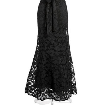 Chetta B Floral Lace Skirt