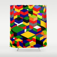 zappwaits squares Shower Curtain by netzauge