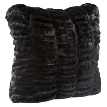 Onyx Mink Faux Fur Pillows by Fabulous Furs