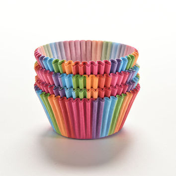 Rainbow color 100 pcs cupcake liner baking cup cupcake paper muffin cases Cake box Cup tray cake mold decorating tools