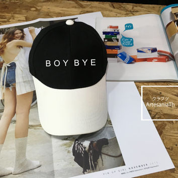 BOY BYE Baseball Cap, Low-Profile Baseball Cap Hat Tumblr Inspired Pastel Pale Grunge