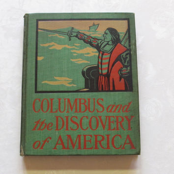 Columbus and the Discovery of America Antique Book