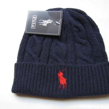 hcxx POLO Merino Wool Hat Blue-Red