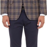 Plaid Two-Button Sportcoat