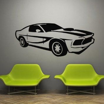 Wall Decal Decor Decals Art Sticker Cars Race Bolide Track Speed Sport Wheel Gift (M795)