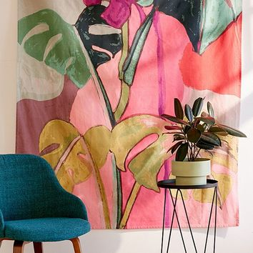 Colorblock Palms Tapestry | Urban Outfitters