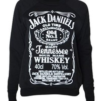 Womens Jack Daniels Sweater Top: Clothing